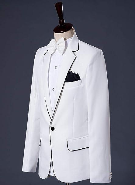Amazon.com: Fitty Lell - Chaqueta para hombre, color blanco ...
