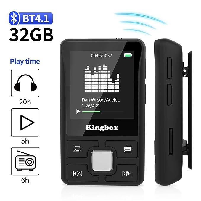 150 opinioni per Lettore MP3 Bluetooth 32GB,MP3 player per Sport,Lossless HiFi Musicale con Radio