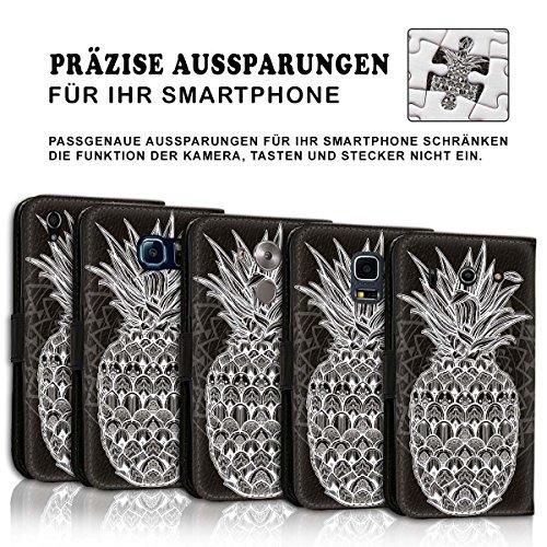 Wallet Book Style Flip Handy Tasche Case Schutz Hülle Schale Motiv Etui für Apple iPhone 6 Plus / 6S Plus - Design Flip MVD229