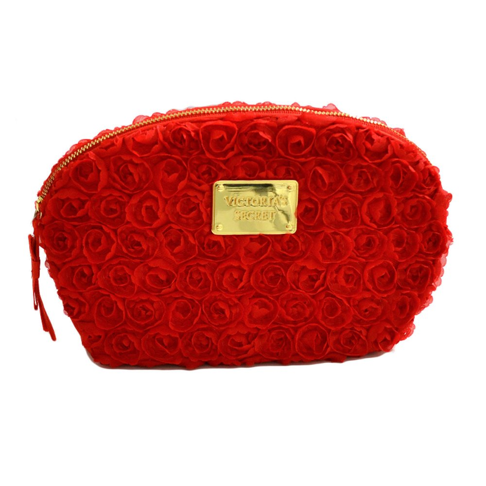 Neceser pequeño Victorias Secret Satin Flower (Rojo ...