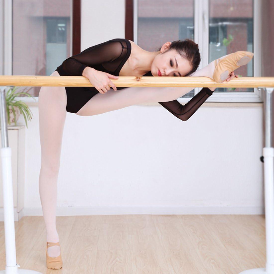 FEOYA Justaucorps Ballet Danse Classique Femme Justaucorps /à Manche Longue Gymnastique Adulte V/êtement de Danse L/éotard Noir