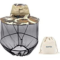 Galattica Anti Fly Mosquito Net Hat. Sun Rain Bugs Protection When Camping Fishing Boating Prospecting Hiking. Light and…