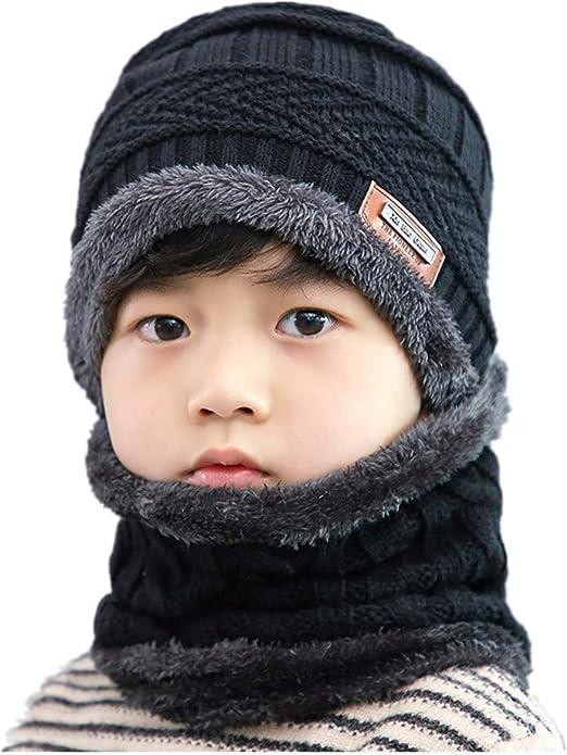Gorros de nieve para niños 2pcs de invierno polar caliente de ...