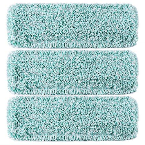 "TEBEST Mop Wet Mop 18"" Microfiber Loop-End Mop Refill Pads 3 Pack"