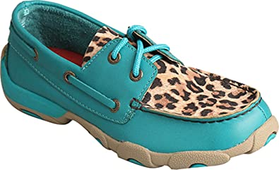 141b9e664ef2 Amazon.com | Twisted X Girls' Turquoise Driving Moccasins Moc Toe ...