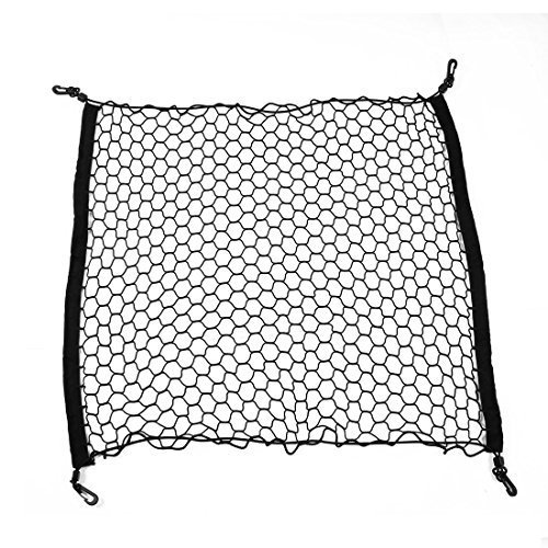Water & Wood Elasticated Bungee Luggage Storage Car Cargo Net w Lobster Clasp with Car Cleaning Cloth