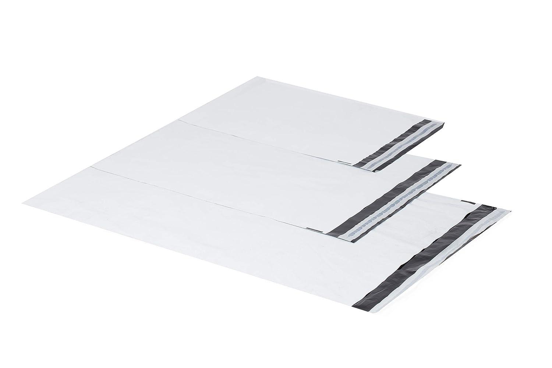 200 St/ück bianco 50mm Plastica bianca spedizione Buste Spedizione Sacchetti Buste LDPE Coex Pellicole 25/x 35/cm 35/x 45/cm 40/x 60/cm 60/My 350 x 450mm