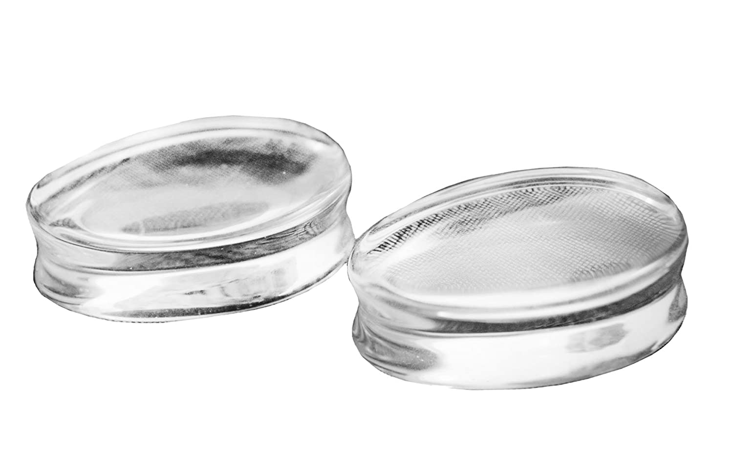 Bandaru Organics Clear Glass Teardrop Double Flared Plugs vcg052_16.5