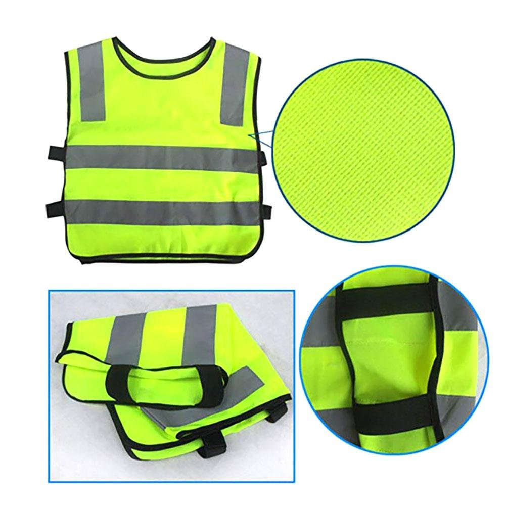 Yellow Preschool Uniforms Keptfeet Child Reflective Vest High Visibility Childrens Safety Vest Waistcoat Jacket Small Size for Outdoors Sports Safety Vest