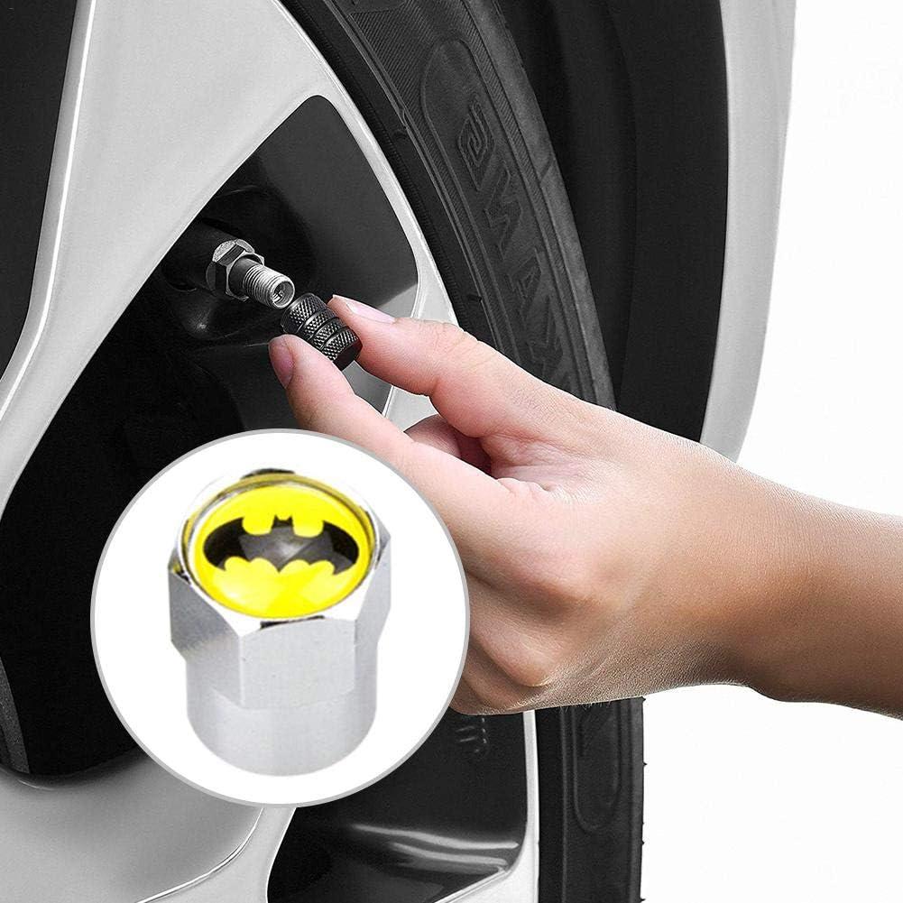 LKW Motorrad verhindern Luftlecks boastvi 4 St/ück Edelstahl Ventilkappen Reifenventil-Staubkappen Autoreifen Ventilkappen Batman Ventilkappen f/ür Auto Fahrrad