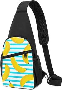 PGTry Banana - Mochila bandolera sin costuras, ligera, para el hombro, bolso bandolera, bolsa cruzada, viajes, senderismo, para hombres y mujeres