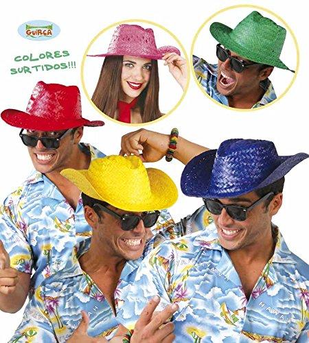 Guirca Cappello di paglia in colori assorititi modello panama paglietta