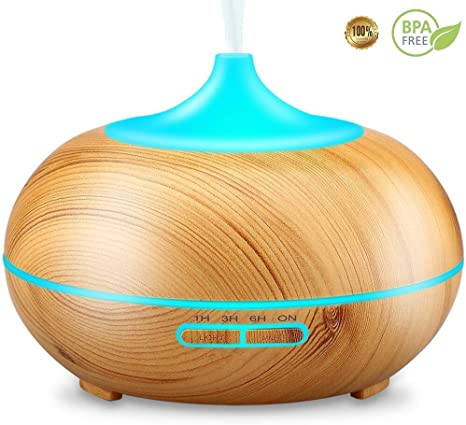 Cool Mist Humidifier Essential Oil Diffuser Vaporizer for Essential Oils 300ml Wood Grain Diffuser Sparoom Essential Oil Diffuser Fills a