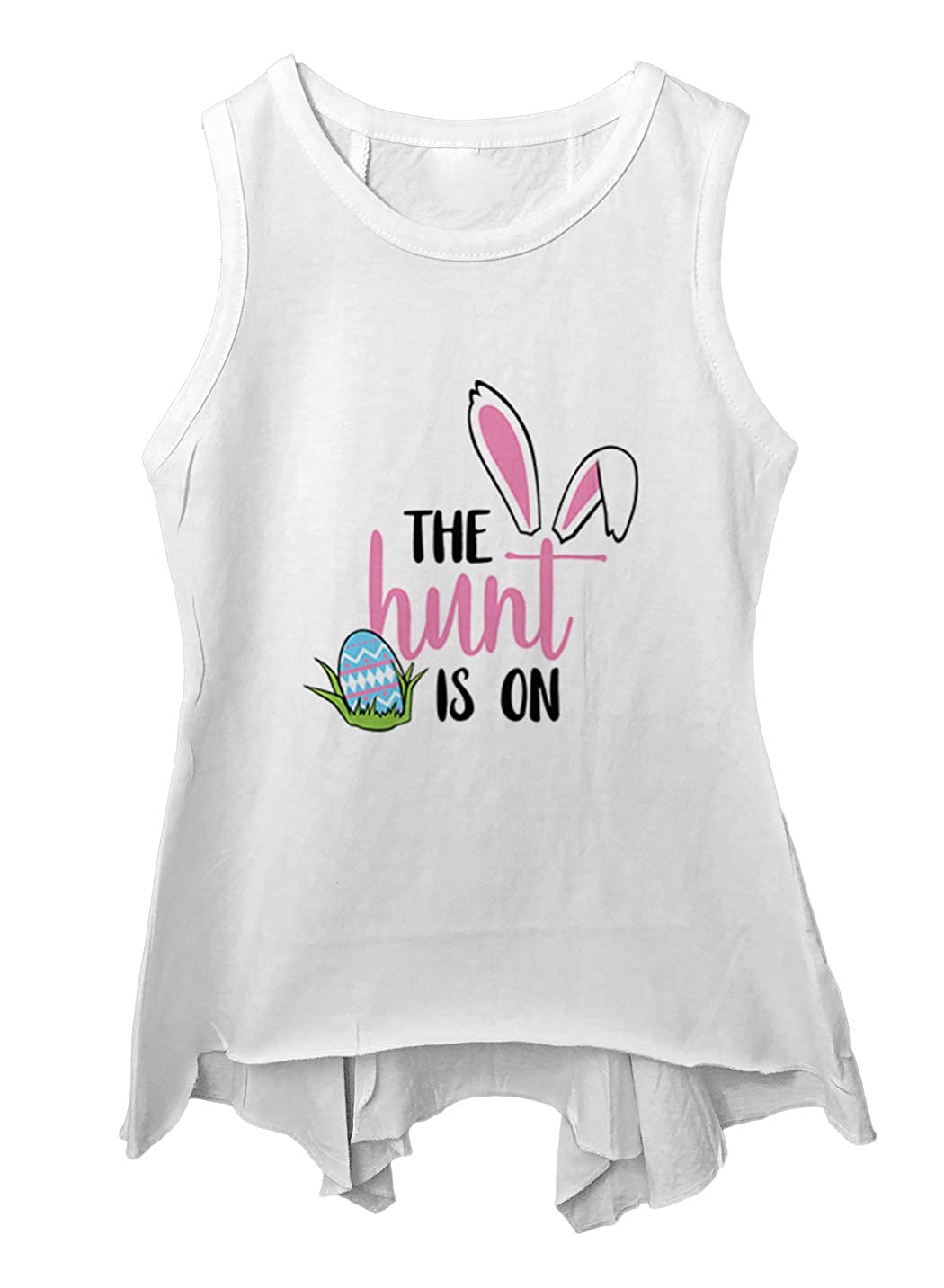 The Hunt is On Cute Easter Egg Bunny Toddler//Youth Sleeveless Backswing