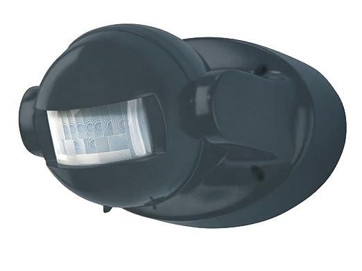 Powerfix Profi - Detector de movimiento ap 180 °, Color negro ideal para Halógena bajo consumo y LED - Leuchten en interior y exterior (IP 44): Amazon.es: ...