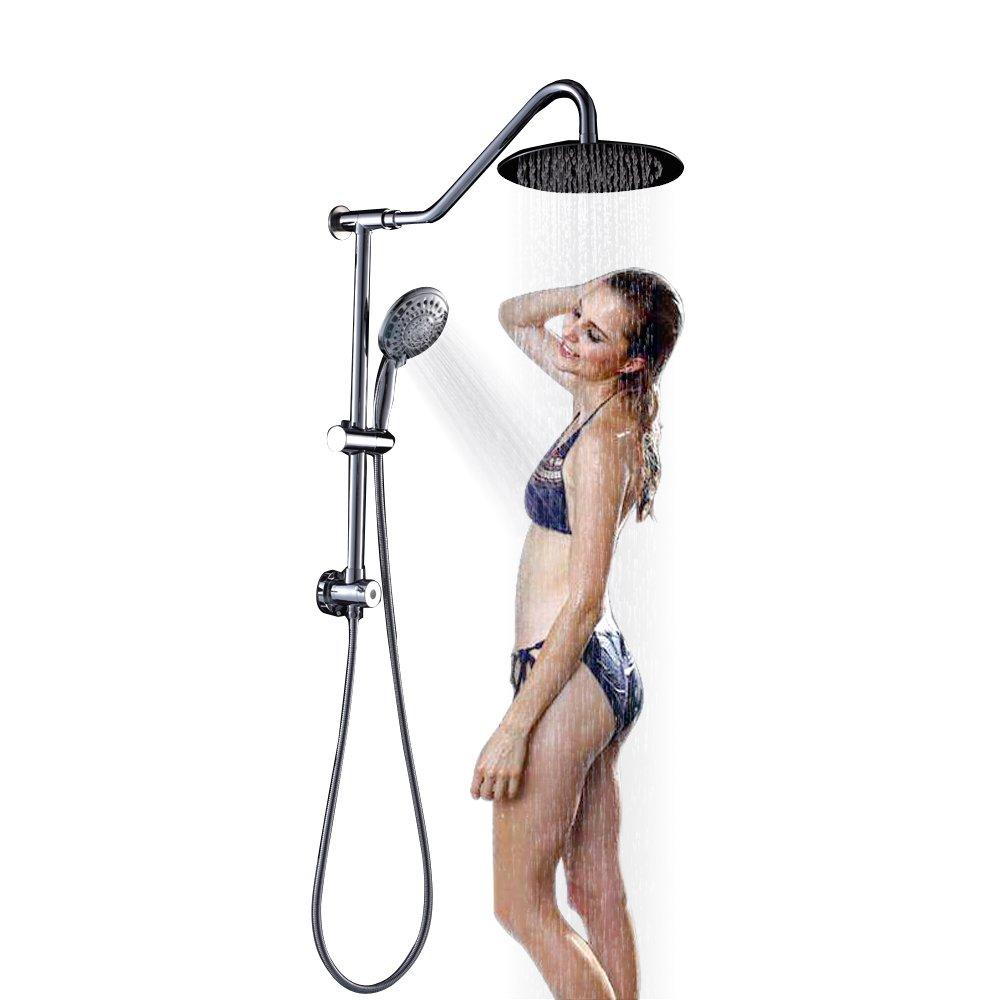 SARLAI Flexible Double Rain Hotel Spa Dual Shower Head Combo Polished Chrome