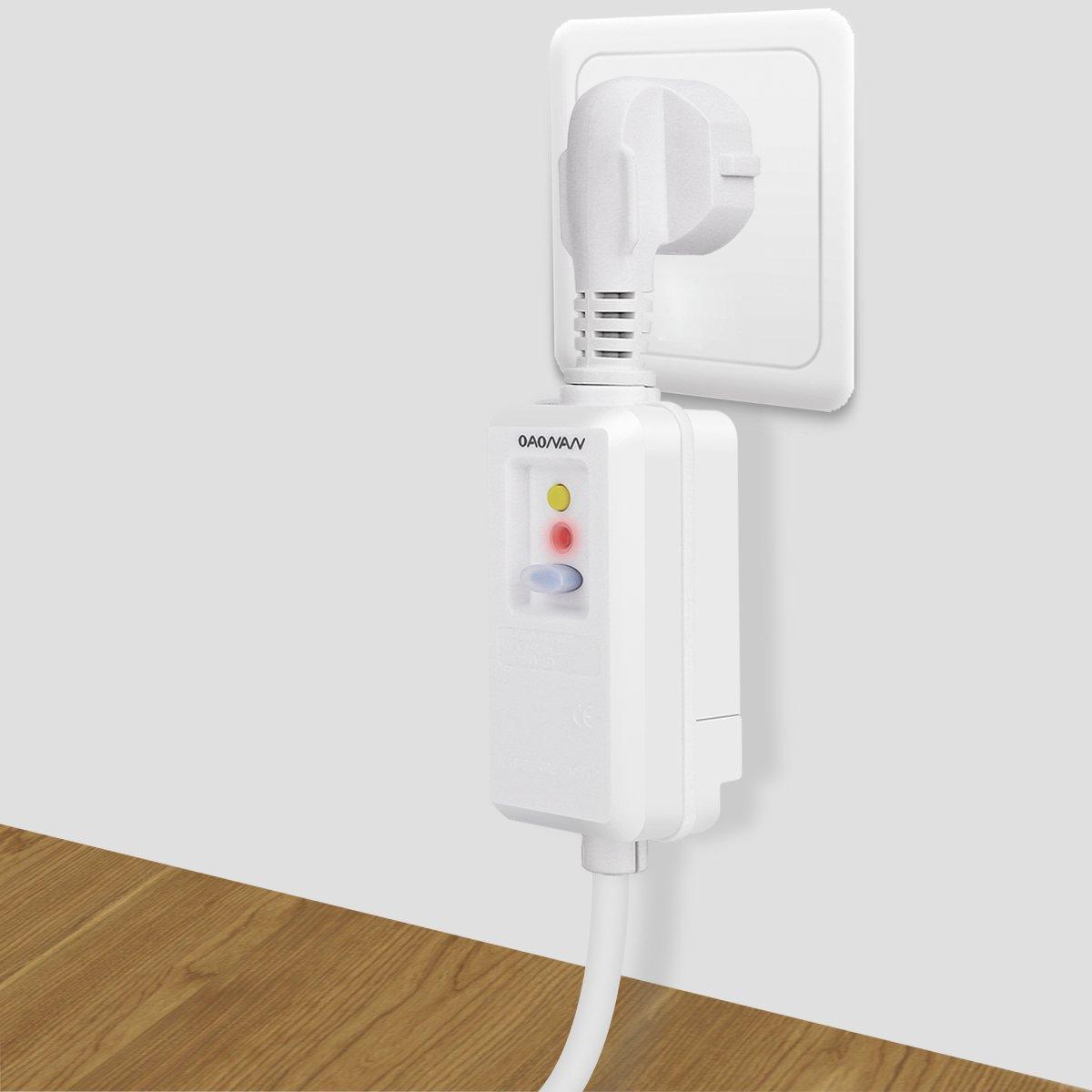 OAONAN Dispositivo de circuito residual enchufe el/éctrico 16A