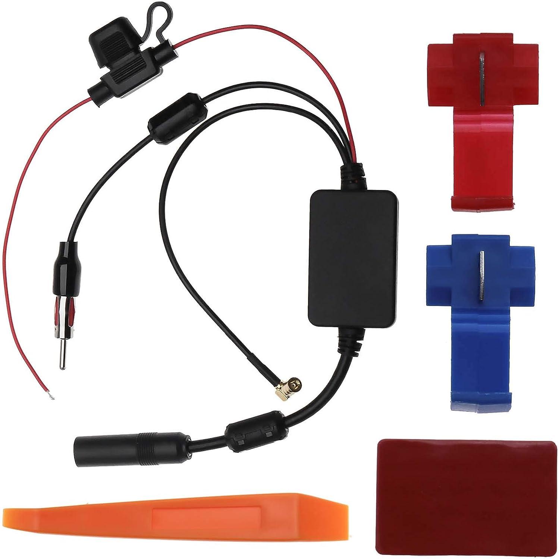 Amplificador de antena de coche 12 V compatible con AM FM Dab ...