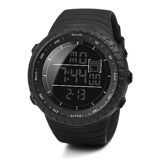 VEHOME Reloj Deportivo de Moda para Hombre - Correa de Caucho Negro - Reloj Digital Inteligente-Relojes Cuarzo relojero Reloj reloje hombresRelojes de ...