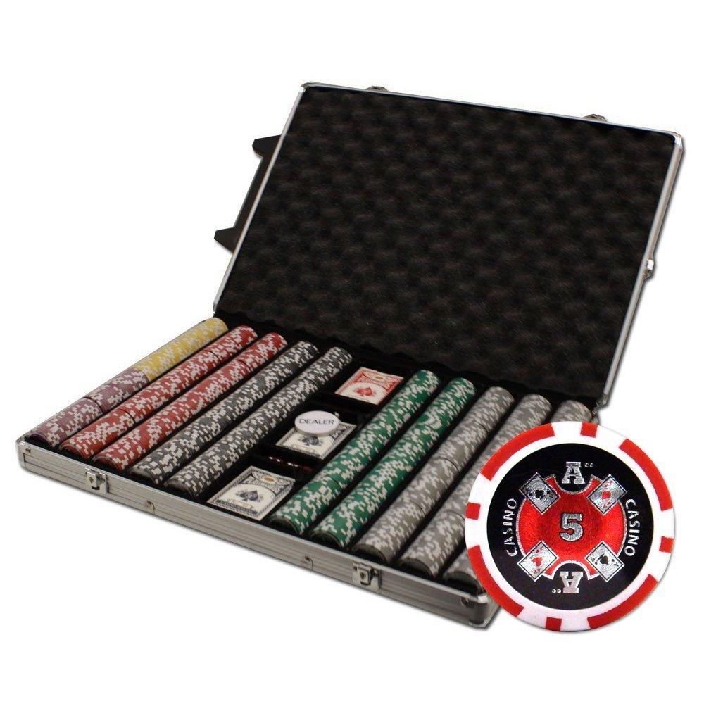 【メーカー直送】 Brybelly 1000-count Ace gm Casino Poker Chipセットin Chipセットin Rollingアルミケース Ace、14 gm B007I4G0FA, トママエチョウ:e050b245 --- ballyshannonshow.com