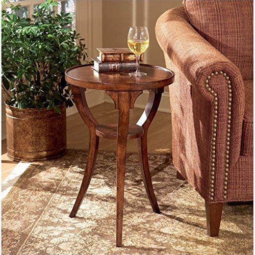 Plantation Cherry End Table - Butler specality company BUTLER 1328024 DALTON PLANTATION CHERRY ROUND ACCENT TABLE