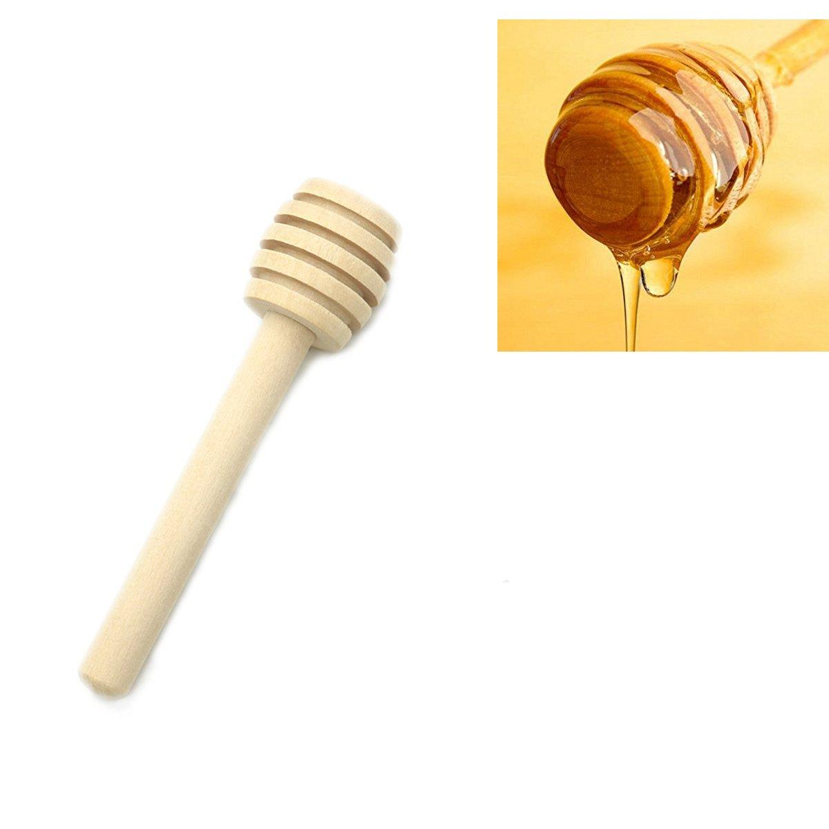 Amazon.com: HUELE Mini 3 Inch Wood Honey Dipper Sticks, Server for ...