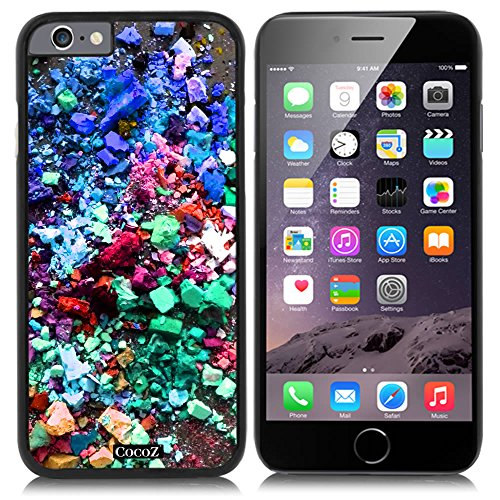 CocoZ® New Apple Iphone 6 s 4.7-inch Case Beautiful Personalized color PC Material Case (Black PC & Personalized color 26)