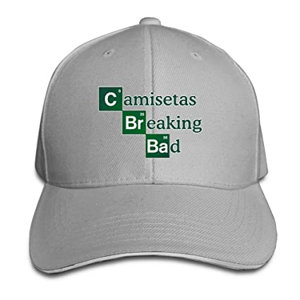 Amazon.com: FOOOKL Camisetas-br-Bad Cap Unisex Low Profile Cotton Hat Baseball Caps Ash: Clothing