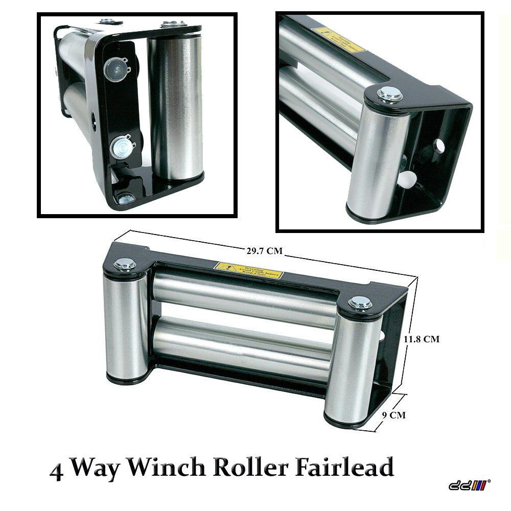 D&D (Drag & Drift) 1 x DD 10' 9500lb-10000lb-12000lb Replacement Recovery Combo Winch Roller Fairlead D&D (Drag&Drift)