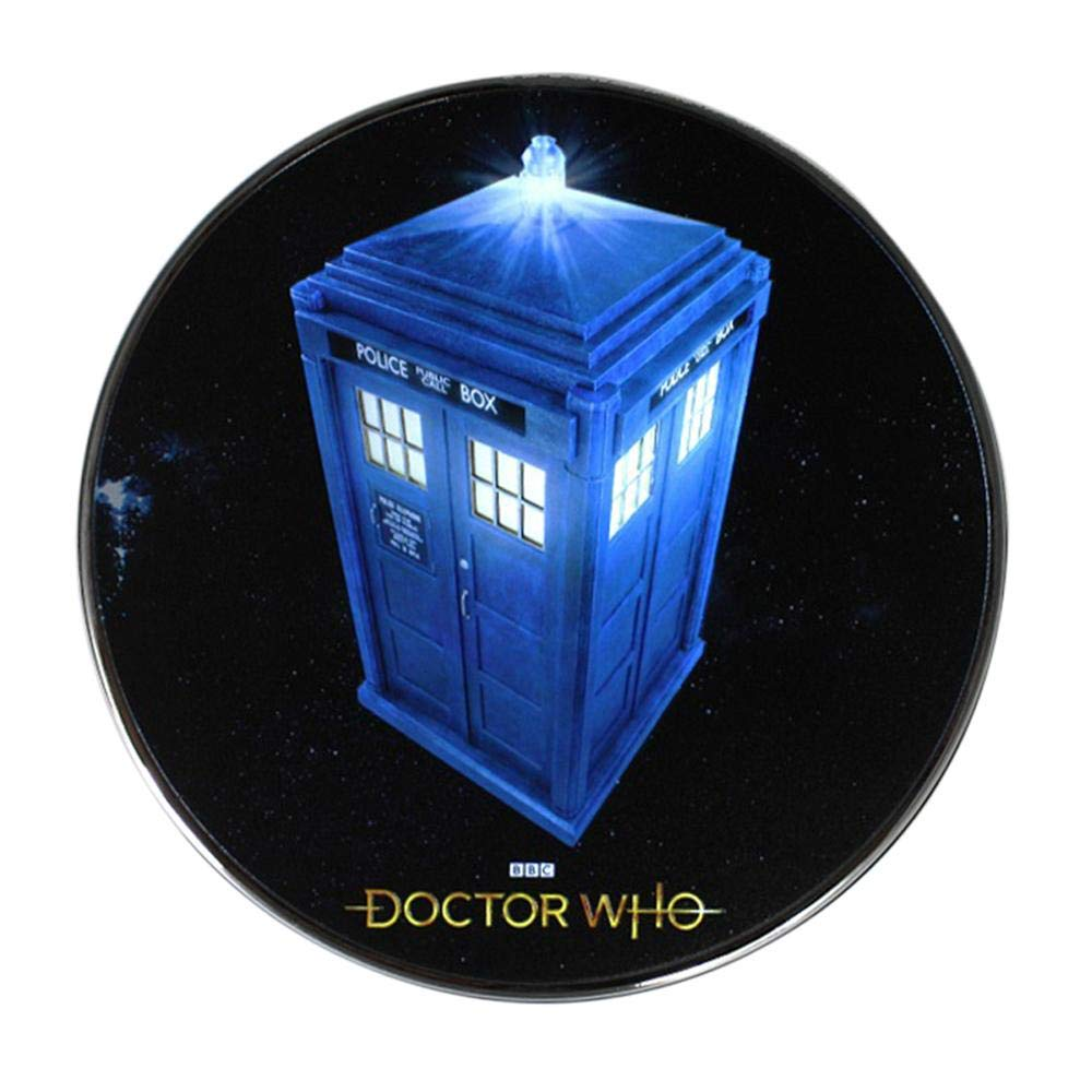 Doctor Who Tardis Qi Wireless Charger, 8000 mAh Backup Battery Pack for Wired USB and Wireless Charging. Portable Phone Charger with Illuminated materializing Tardis. Doctor Who Gifts, Collectibles