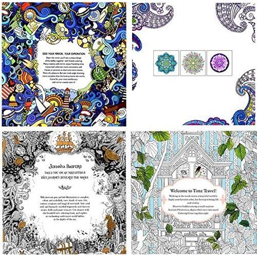 High Quality 4 Design Lot Lome Ty Adults Coloring Books Mini Secret Garden