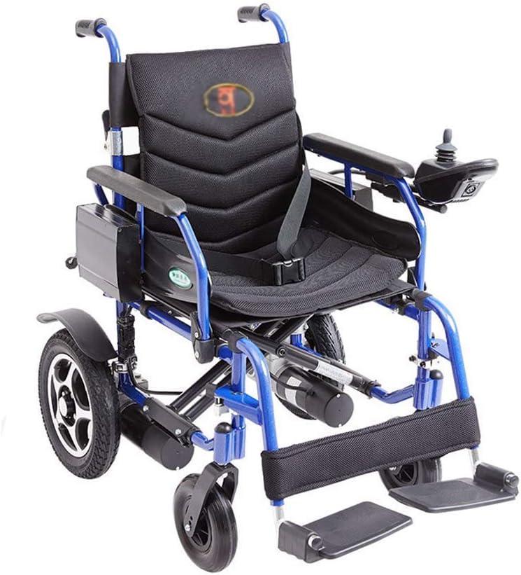 ZNZ Silla de Ruedas, Aleación de Aluminio Silla de Ruedas Eléctrica, Discapacitados Plegable Portátil de Ancianos Vespa, Carga 100Kg vcbsdfgfdghfhgfh