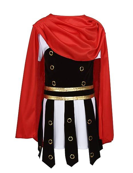MSemis Disfraz de Soldado Romano para Niños 4-12 años Traje ...