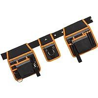 Case4Life Schwarz / Orange Hochleistung Werkzeuggürtel Schürze Tasche - Tischler Schreiner Bauarbeiter Nagel Tasche - Lebenslange Garantie