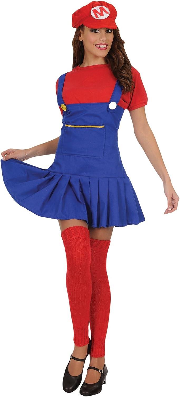 Stamco Disfraz Super Mario para Mujer: Amazon.es: Juguetes y juegos