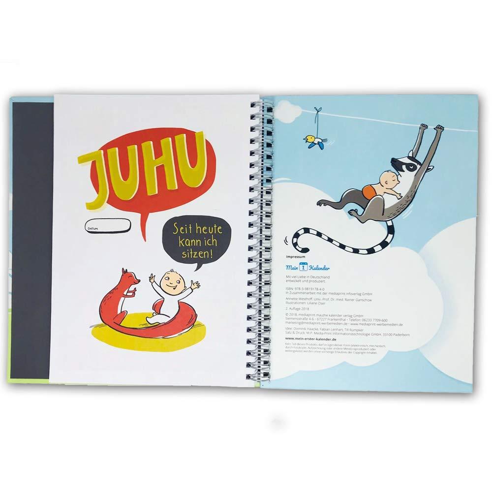 Kalender Babytagebuch Mein 1 Geschenk zur Geburt 365 Tipps/&Tricks Babybuch