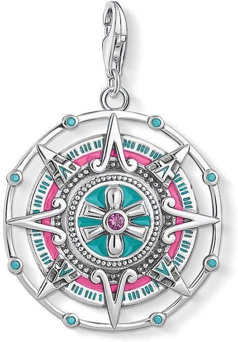 Colgantes De Plata 925 para Mujer,Personalidad Moderna Forma De Calendario Maya Color Chainless Encante para Señoras Vacaciones Regalo Regalo De San Valentín Navidad Regalo Joyería Actual