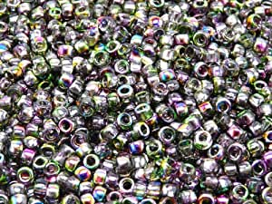 Cuentas redondas de cristal Checa MATUBO 7/0 (3,5 mm) 10 gr (aprox. 220 piezas) Color: Magic Violet-Green