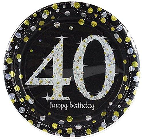 Amscan Sparkling Celebration 40 Paper Dessert Plates (24 Count)]()