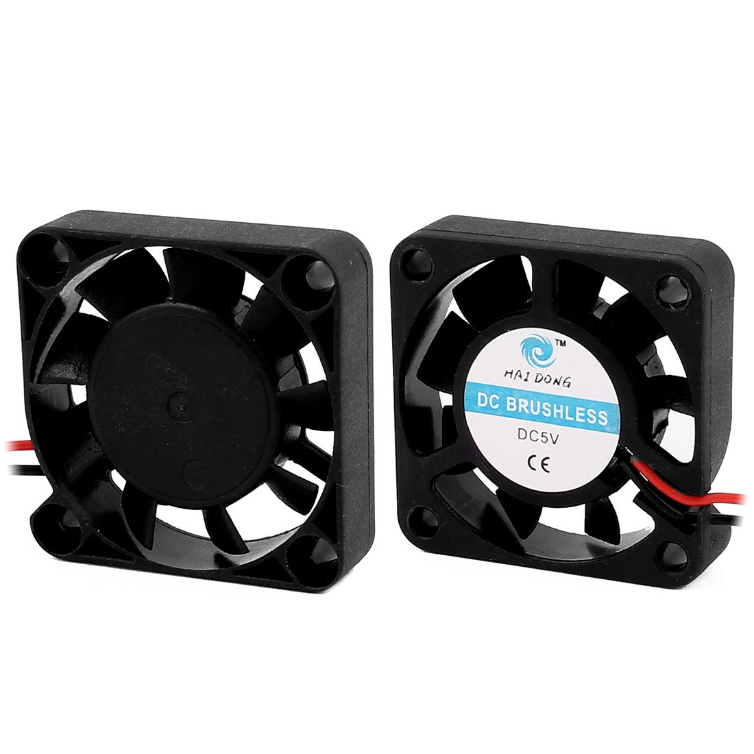 uxcell a16032500ux0874 2 Piece 40 x 40 x 10 mm 5V 0.14 Amp DC Heat Sink Silent Cooling Case Fan Black 1.57 inches Width 1.57 inches Length