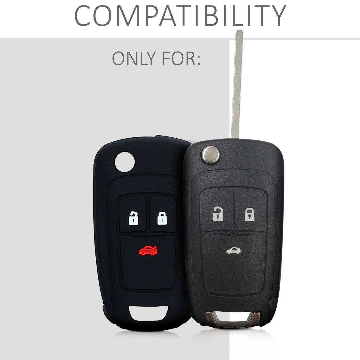 kwmobile Funda de Silicona para Llave Plegable de 3 Botones para Coche Opel Vauxhall - Carcasa Protectora [Suave] de [Silicona] - Case Mando de Auto ...