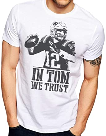70db297598b Patriots Shirt - in Tom WE Trust - Tom Brady Shirt - New England Patriots  Fan Shirt - Patriots Fan Shirt - Super Bowl 2019 | Amazon.com