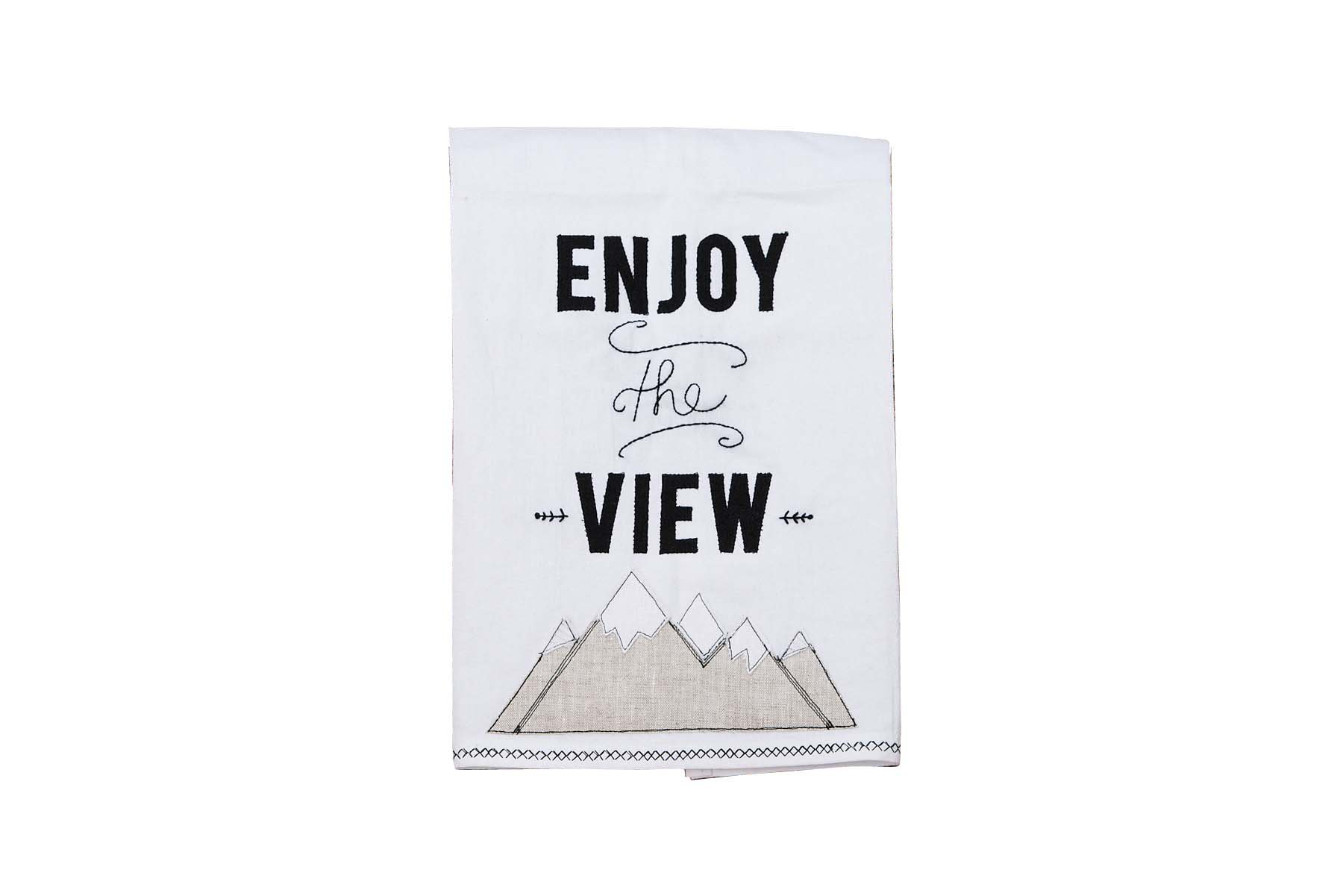 Glory Haus Enjoy The View Mountains Tea Towel, Multicolor by Glory Haus