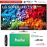 LG 65 Super UHD 4K HDR AI Smart TV w/Nano Cell 2018 Model (65SK9500PUA) with Hulu $100 Gift Card & 1 Year Extended Warranty