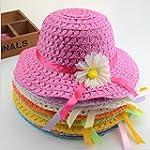 Girls Sunflower Straw Tea Party Hat S...
