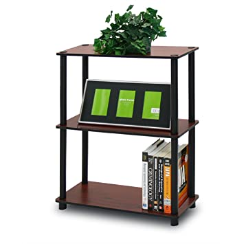 furinno 10024dcbk turnntube 3tier compact shelf display