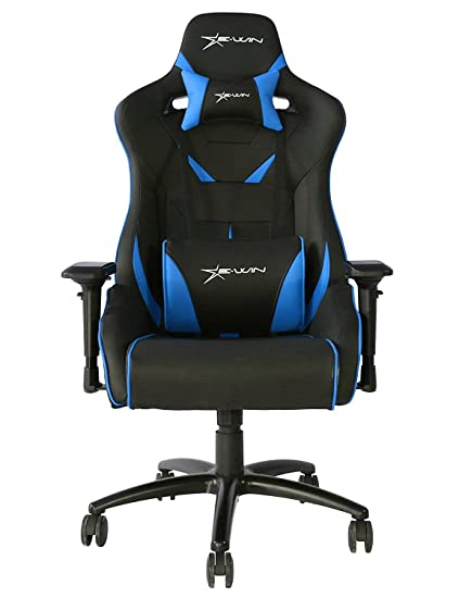 Amazon.com: Ewin Chair Flash Series Ergonomic Normal Size Computer Gaming Office Chair with Pillows - FLNB (Black/Blue): Kitchen & Dining