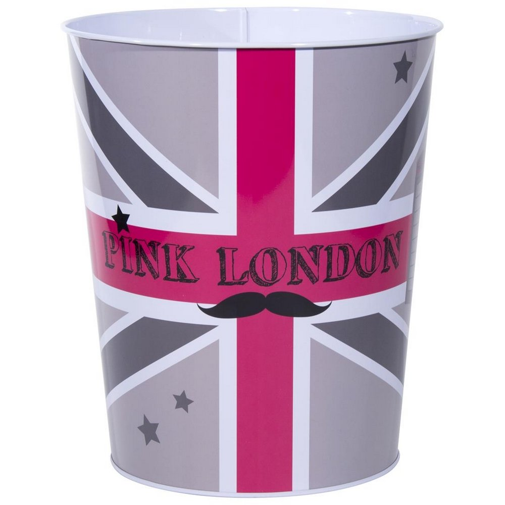 Amazing londres poubelle corbeille mtal dco londres london tendance drapeau mr moustache - Poubelle de chambre london ...