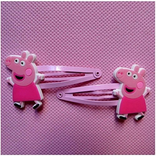 Peppa Pig Hair Clips Bows & Hairpin / Headwear, Bob Pins, Hair Jewelry, for Baby & Toddler & Children & Girl(5 Pairs)
