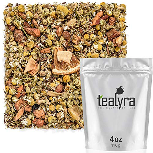 Tealyra - Pineapple Chamomile Crush - Honeybush Red Tea - Mango - Pomegranate - Fruity Herbal Loose Leaf Tea - Hot or Iced - Calming - Bed Time Tea - Caffeine Free - All Natural - 112g (4-ounce)